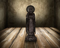 Buddha statue on old room Royalty Free Stock Image