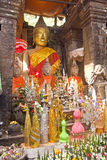 Buddha statue in old Wat Phu - Champasak Royalty Free Stock Image