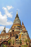 Buddha statue and pagoda at Wat Yai Chaimongkol Stock Photography