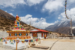 Buddha Statue Pangboche. Buddha statue and monestary of Pangboche in the Everest region of Nepal Stock Photography