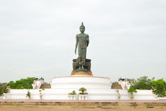 The Buddha statue in the park. The Buddha statue at Phuttamonthon, Nakhon Pathom. It is public place for Buddhist Stock Images