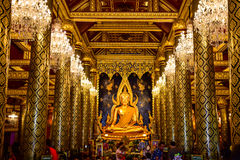 Buddha statue. In Phitsanulok Thailand is a popular temple for travel Stock Images