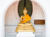 Buddha statue in Phra Pathom Chedi temple Royalty Free Stock Photo