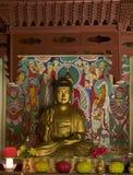 Buddha statue in Pohyon temple North Korea Royalty Free Stock Photos