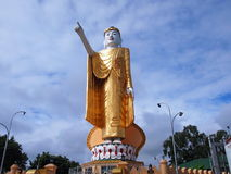 Buddha statue. Pointing Buddha statue in Kengtung royalty free stock photography