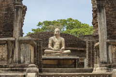 Buddha statue in Polonnaruwa, Sri Lanka Royalty Free Stock Images