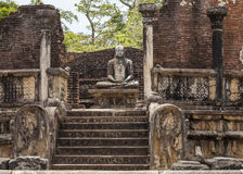 Buddha statue in Polonnaruwa Stock Photo