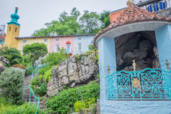Buddha statue in Portmeirion. View in famous Welsh village Royalty Free Stock Photography