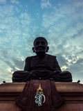 Buddha statue in the power. Buddha statue temple in Hua Hin Royalty Free Stock Photography