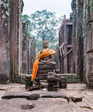 Buddha statue prasat bayon temple Angkor Thom Cambodia royalty free stock photo