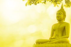 Buddha statue priest religion on golden background. Buddha statue priest religion on golden a background Royalty Free Stock Images