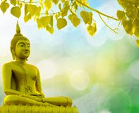 Buddha statue priest religion golden background. Buddha statue priest religion on golden background stock image