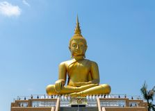 Buddha statue priest religion sky background stock photography