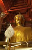 Buddha statue in pubic temple of thailand. Golden Buddha statue in pubic temple of thailand royalty free stock photo