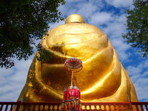 Buddha statue  in Rear view  lamphun thailand Royalty Free Stock Photography