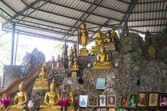 Buddha statue on the rock hill Royalty Free Stock Photography