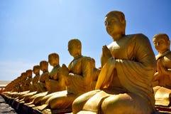 ฺBuddha statue row Royalty Free Stock Photography