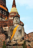 Buddha statue on the ruin Royalty Free Stock Photography