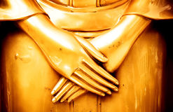 Buddha statues hand. peace in the mind Royalty Free Stock Image