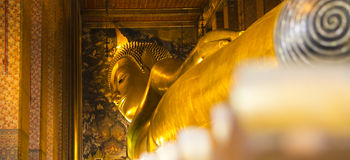 Buddha statue. The sculpture big is creed buddhist Royalty Free Stock Photography