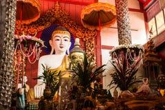 Buddha statue Shan style , Wat Papoa Chiangmai Thailand Stock Image