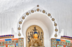 Buddha statue from Shanti Stupa Stock Image