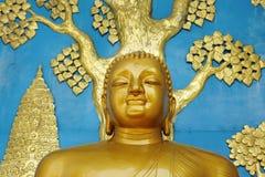 Buddha statue on Shanti stupa Royalty Free Stock Photos