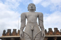 Buddha Statue. In Shravanabelagola, Karnataka, India. Temple built in 1200 AD and is tallest monolithic statue in the world Stock Images