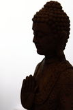 Buddha Statue in Silhouette Royalty Free Stock Images