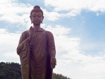 Buddha statue. And the sky Stock Photos