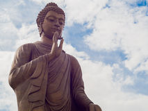Buddha statue. And the sky Royalty Free Stock Images
