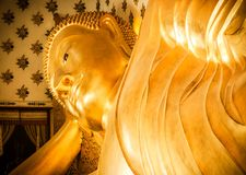 Buddha statue sleep Royalty Free Stock Images