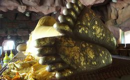 Buddha statue sole foot Stock Photography