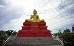 Buddha statue sothon at wat bot temple or Luang Pho Sothon or p stock photo