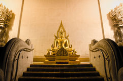Buddha Statue. A Buddha statue with stairway Stock Images
