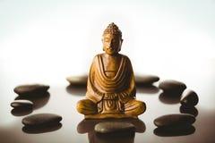 Buddha statue with stone circle Royalty Free Stock Photo