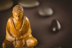 Buddha statue with stone circle Royalty Free Stock Photos