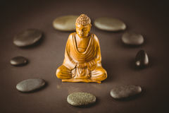 Buddha statue with stone circle Royalty Free Stock Image