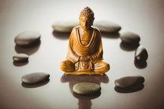 Buddha statue with stone circle Royalty Free Stock Photography