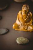 Buddha statue with stone circle Stock Photography