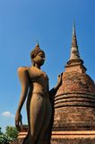Buddha statue in Sukhothai Royalty Free Stock Photography