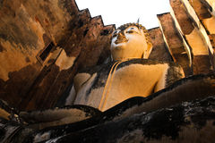 Buddha statue in Sukhothai. Historic park Royalty Free Stock Images