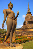 Buddha Statue in Sukhothai Historical park Royalty Free Stock Photo