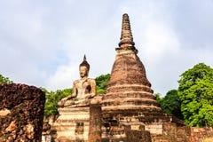 Buddha statue in sukhothai historical park Royalty Free Stock Image