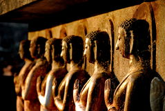 Buddha-Statue sukhothai Nationalpark Stockfotografie