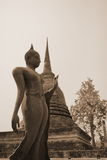 Buddha statue. In sukhothai Thailand Royalty Free Stock Photo