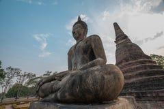 Buddha Statue Sukhothai. 700 years old Sukhothai's Buddha Statue at Sukhothai Historical park in Thailand Royalty Free Stock Photos