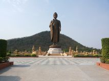 Buddha statue on sukonthip temple Royalty Free Stock Images