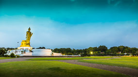 Buddha Statue at Sunrise or Sunset, HDR Stock Photo
