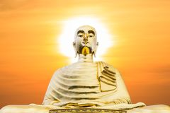 Buddha statue with sunset Royalty Free Stock Photography